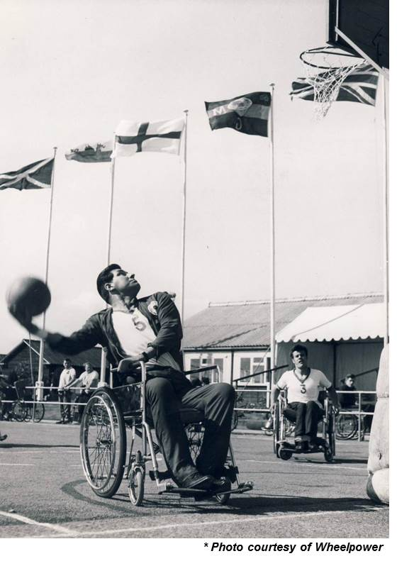 WheelPower Archive pic of Wheelchair Basketball - Picture courtesy of Wheelpower