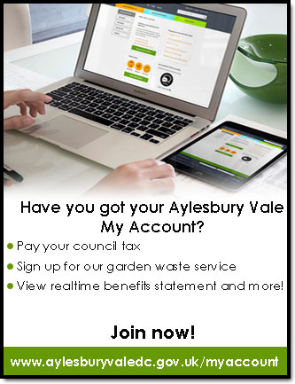 Register for Aylesbury Vale My Account