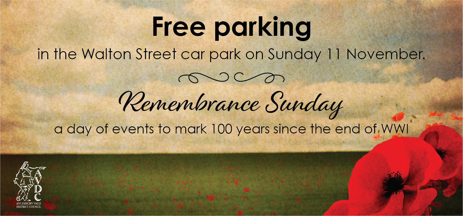 Free parking in the Walton St car park, Sunday 11 November