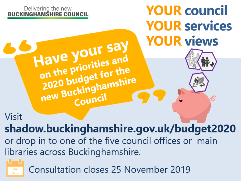 Have your say on the budget for the new Buckinghamshire Council