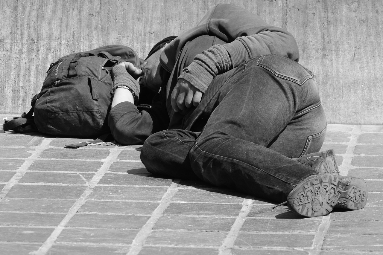 picture shows rough sleeper