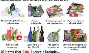 What goes in my recycling bin?