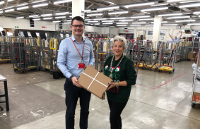 Councillor Sue Renshell at Aylesbury Delivery Office